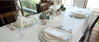 テーブルコーディネートとインテリア
