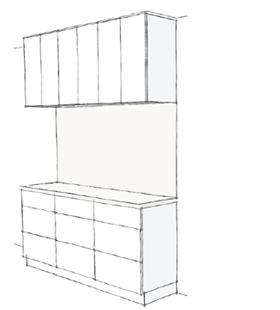 1800幅タイプ 食器棚