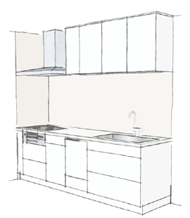 壁付けI型 食洗機付プラン