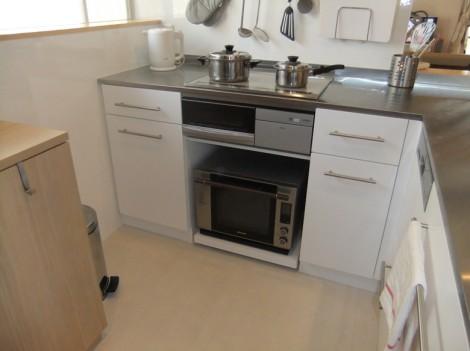 コンパクトL型キッチン